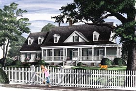 Cottage , Country , Traditional House Plan 86193 with 4 Beds, 3 Baths, 2 Car Garage Elevation