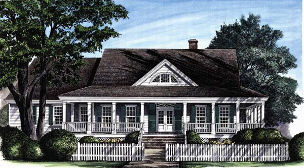Colonial cottage country craftsman farmhouse southern for Southern craftsman home plans