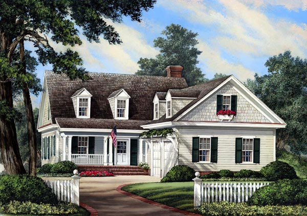 Cottage Country Farmhouse Traditional House Plan 86196 Elevation