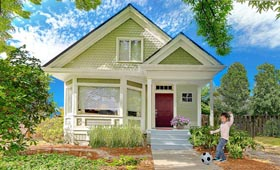 Cottage , Bungalow House Plan 86198 with 2 Beds, 2 Baths, 2 Car Garage Elevation