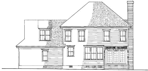 Cottage Country Farmhouse House Plan 86199 Rear Elevation