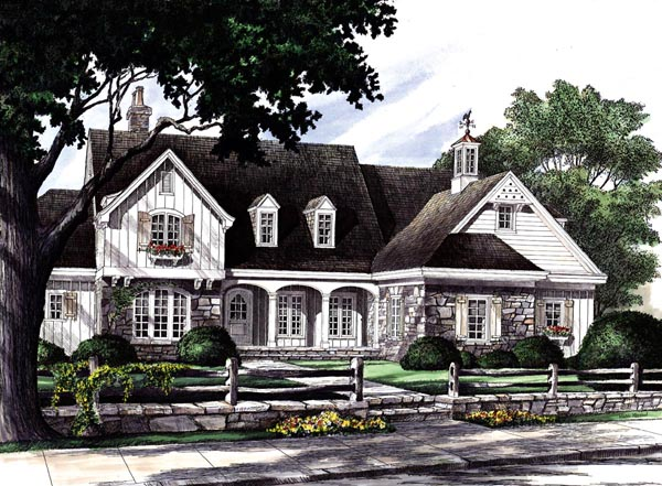 Southern , Craftsman , Country House Plan 86201 with 4 Beds, 5 Baths, 2 Car Garage Elevation