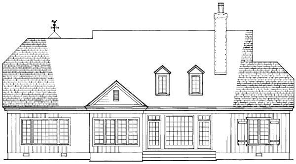 Southern , Craftsman , Country House Plan 86201 with 4 Beds, 5 Baths, 2 Car Garage Rear Elevation
