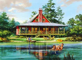 Cabin Country Farmhouse House Plan 86202 Elevation