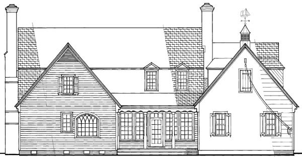 Traditional House Plan 86204 Rear Elevation