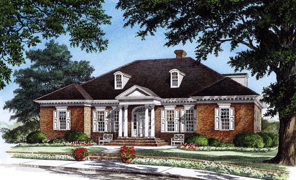 Traditional House Plan 86205 Elevation