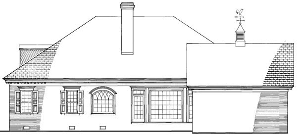 Traditional House Plan 86205 Rear Elevation