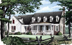 House Plan 86206 | Traditional Style Plan with 2990 Sq Ft, 4 Bed, 4 Bath, 2 Car Garage Elevation