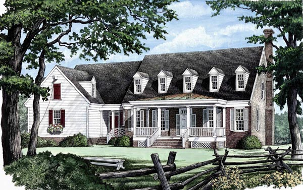 Traditional House Plan 86206 Elevation