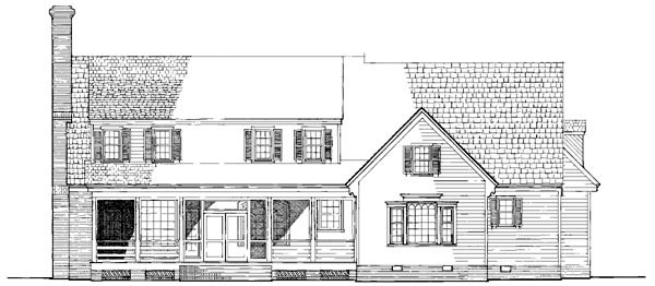 Traditional House Plan 86206 Rear Elevation