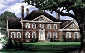 Colonial Plantation House Plan 86207 Elevation