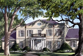 Plantation Southern House Plan 86209 Elevation