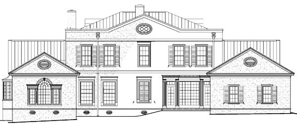 Plantation Southern House Plan 86209 Rear Elevation