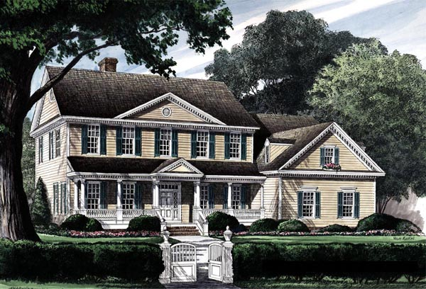 House Plan 86210 | Traditional Style House Plan with 3272 Sq Ft, 4 Bed, 4 Bath, 2 Car Garage Elevation