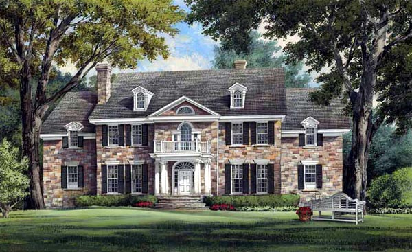 Colonial Plantation Southern House Plan 86213 Elevation