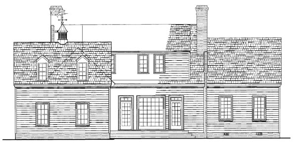 Cottage Country Southern House Plan 86216 Rear Elevation