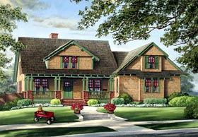 Bungalow , Craftsman House Plan 86220 with 3 Beds, 2 Baths, 2 Car Garage Elevation