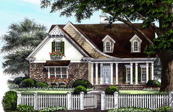 House Plan 86223 | Cottage Country Craftsman European Style Plan with 2875 Sq Ft, 4 Bedrooms, 4 Bathrooms, 2 Car Garage Elevation