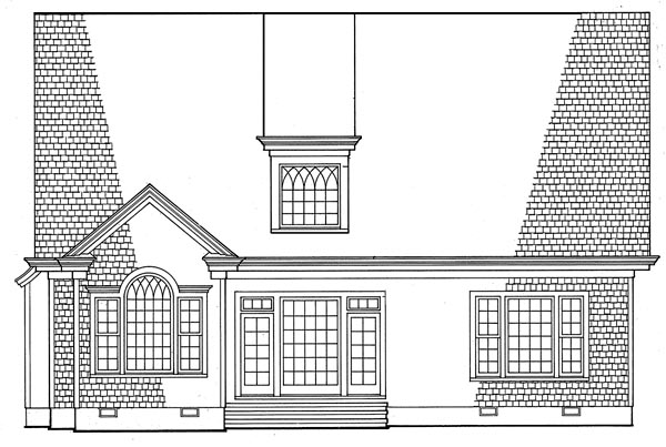 Cottage Country Craftsman European House Plan 86223 Rear Elevation
