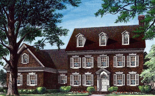 Colonial , Traditional House Plan 86224 with 4 Beds, 5 Baths, 2 Car Garage Elevation
