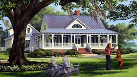Traditional , Farmhouse , Country , Cottage House Plan 86226 with 4 Beds, 3 Baths, 2 Car Garage Elevation