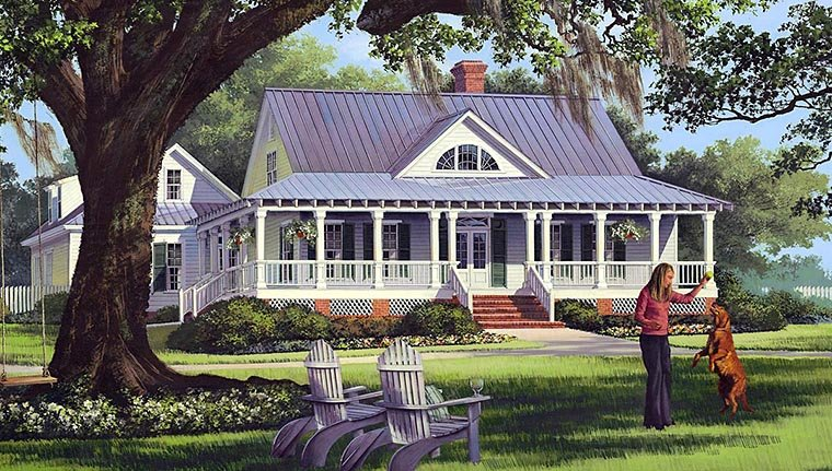 Cottage, Country, Farmhouse, Traditional, House Plan 86226 with 4 Beds, 3 Baths, 2 Car Garage Elevation