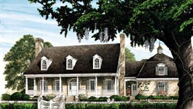 Cape Cod Colonial Cottage Country Farmhouse Southern Traditional House Plan 86227 Elevation