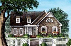 House Plan 86228 | Craftsman Traditional Style Plan with 2410 Sq Ft, 4 Bed, 3 Bath, 2 Car Garage Elevation