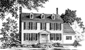 Colonial Southern House Plan 86229 Elevation