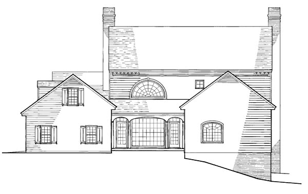 Colonial, Southern House Plan 86229 with 4 Beds, 5 Baths, 2 Car Garage Rear Elevation