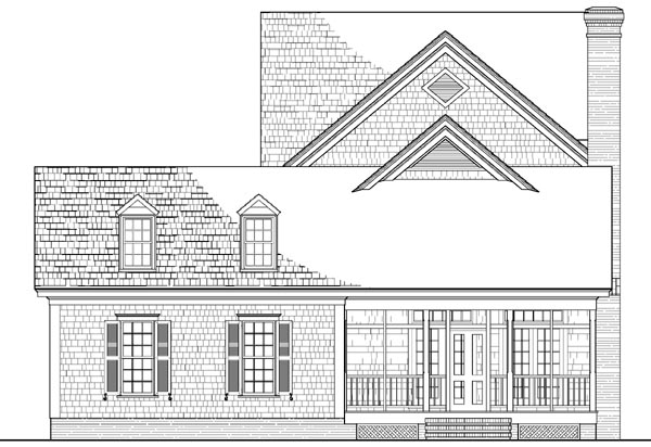 Cottage Country Traditional House Plan 86231 Rear Elevation