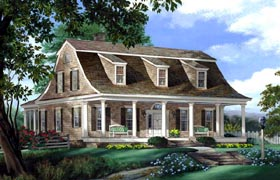 Traditional , Colonial House Plan 86232 with 4 Beds, 4 Baths, 2 Car Garage Elevation
