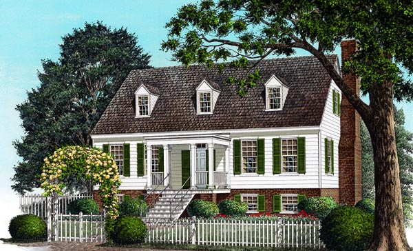 Colonial Traditional House Plan 86233 Elevation