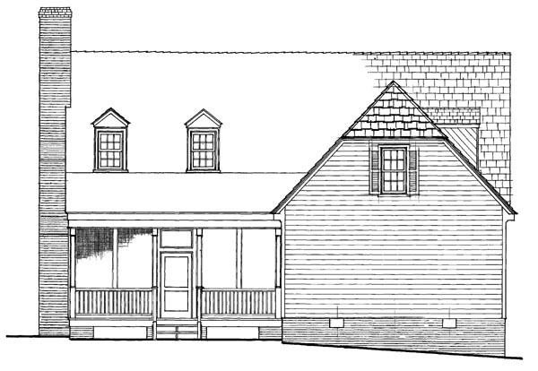 Colonial Traditional House Plan 86233 Rear Elevation