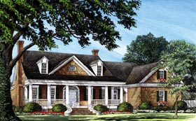 Southern , Traditional House Plan 86237 with 4 Beds, 4 Baths, 2 Car Garage Elevation