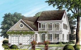 House Plan 86239 | Colonial Southern Traditional Style Plan with 2318 Sq Ft, 3 Bedrooms, 4 Bathrooms, 2 Car Garage Elevation