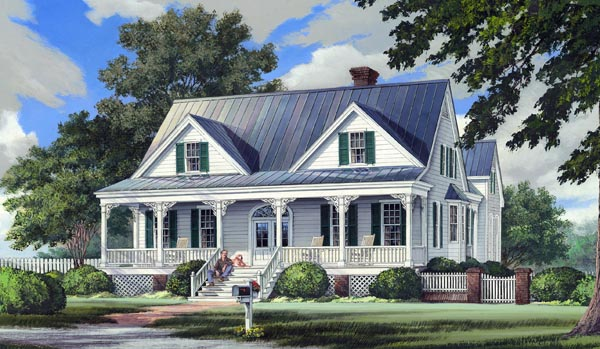 Country Farmhouse Southern House Plan 86244 Elevation
