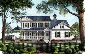 Country Farmhouse Victorian House Plan 86246 Elevation