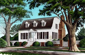 Colonial House Plan 86247 Elevation