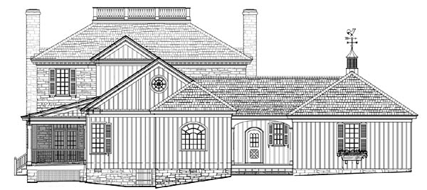 Traditional House Plan 86250 Rear Elevation