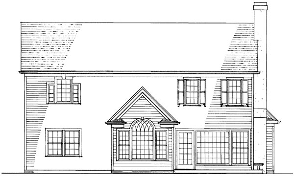 Country Traditional House Plan 86251 Rear Elevation