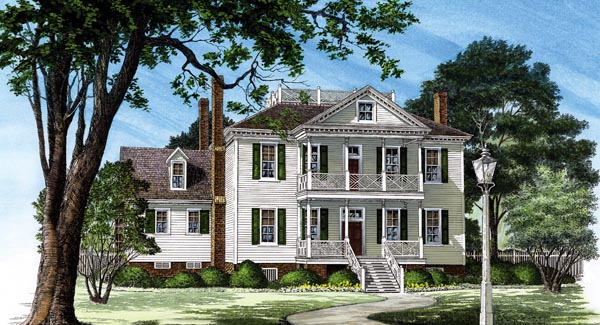 Colonial Plantation House Plan 86252 Elevation