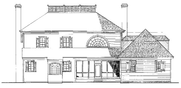 Colonial Plantation House Plan 86252 Rear Elevation