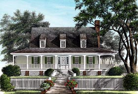 Farmhouse Traditional House Plan 86257 Elevation