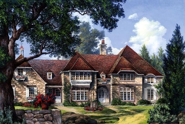 Country European Plantation House Plan 86260 Elevation