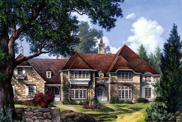 Country, European, Plantation House Plan 86260 with 5 Beds, 7 Baths, 2 Car Garage Elevation