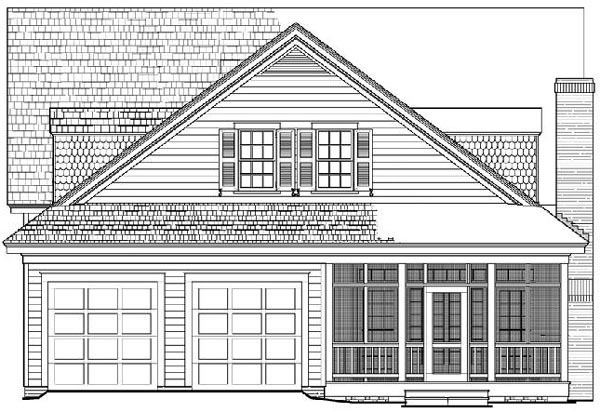 Cottage Country Farmhouse Traditional House Plan 86261 Rear Elevation