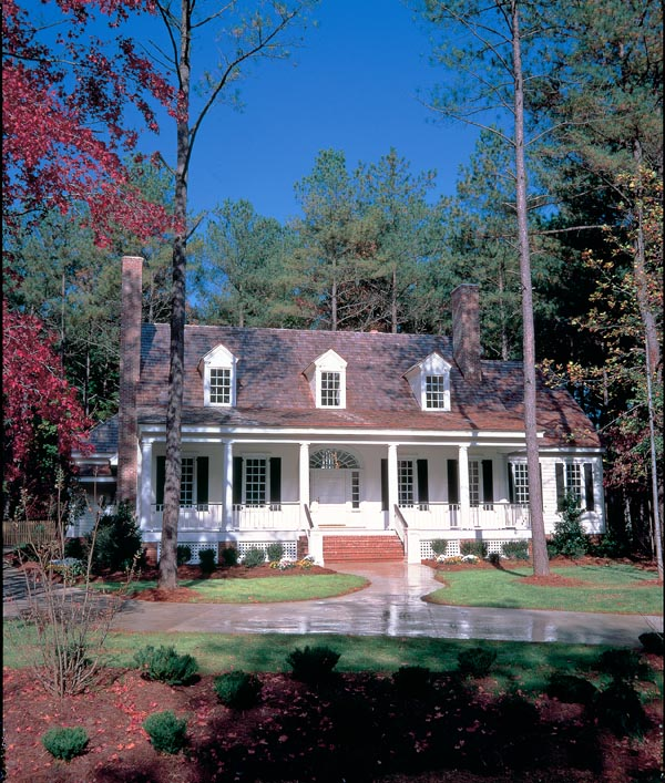 Colonial Cottage Country Farmhouse Southern Traditional House Plan 86262 Elevation