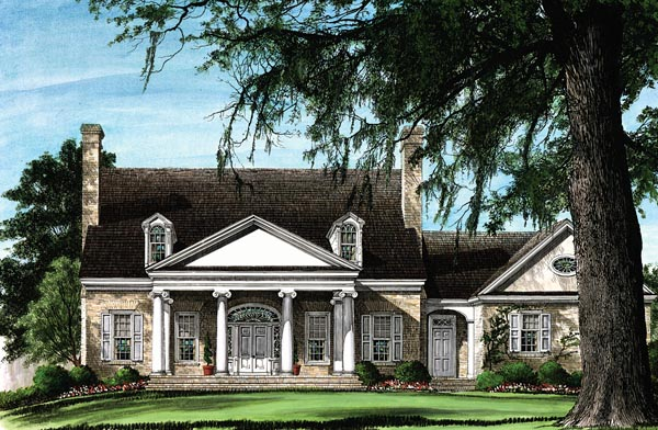 Colonial Traditional House Plan 86267 Elevation
