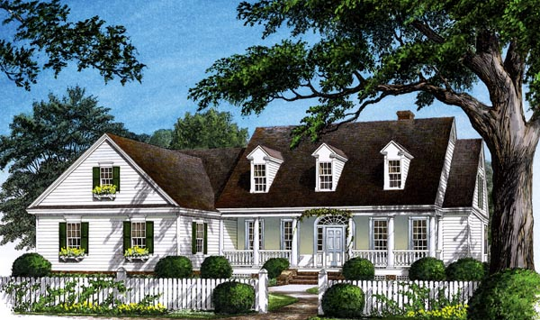 Colonial, Farmhouse, Southern, Traditional House Plan 86268 with 4 Beds, 3 Baths, 2 Car Garage Elevation